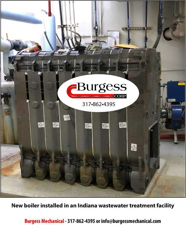 New Boiler Installed at an Indiana Wastewater Treatment Facility
