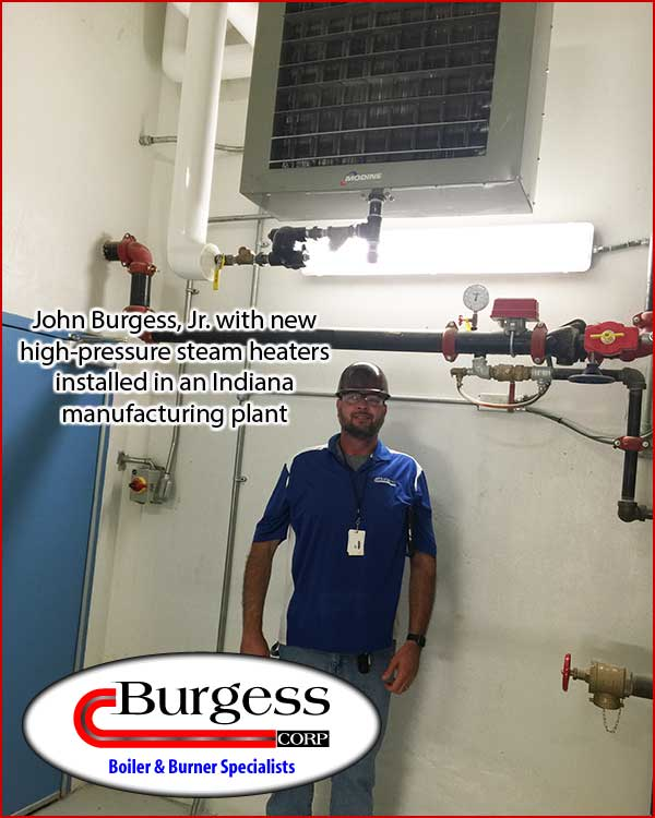John Burgess Jr. - Indiana boiler and burner expert with steam heaters